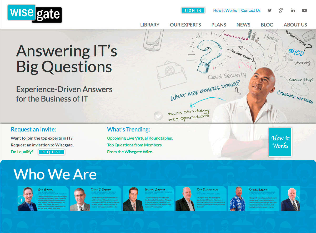 Current Wisegate Home Page